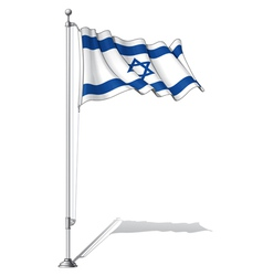 Flag pole israel vector