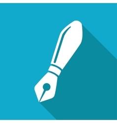 fountain pen icon Eps10 vector image vector image