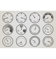 Gauge meter icons sets vector