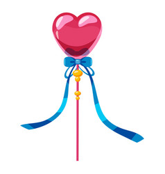 Heart wand icon cartoon style vector
