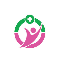 Human healthcare logo image vector