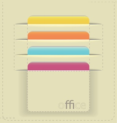 inserted paper cards vector image vector image
