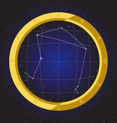 Libra star horoscope zodiac in fish eye vector