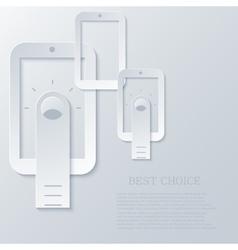 modern smartphone light background vector image