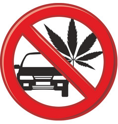 no drug for driving vector image vector image