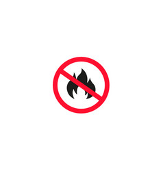 No fire sign isolated on white background vector