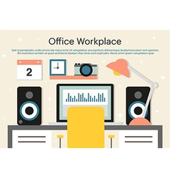 Office workplace background vector