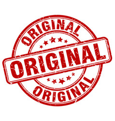 Original red grunge round vintage rubber stamp vector