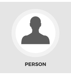 Person icon flat vector