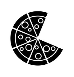 Pizza icon image vector