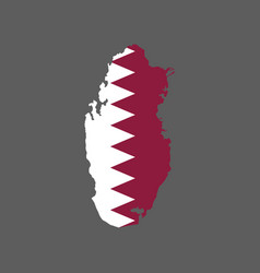 qatar map silhouette vector image vector image