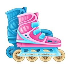 Roller skates for rolling vector image