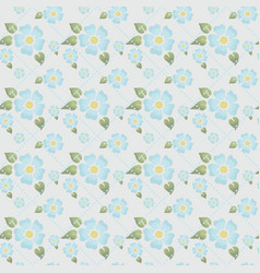 Seamless floral pattern subdued tone of colour vector