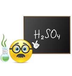 Smile teacher of chemistry vector