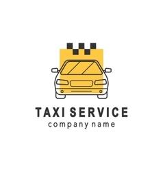 Taxi service logo design vector image
