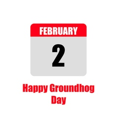 Template calendar for groundhog day vector