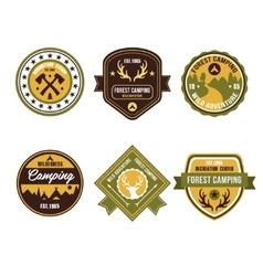 Vintage Outdoor Camp Badges and Logo Emblems vector image vector image