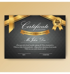 Elegant certificate of achievement with ornaments vector