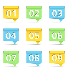 1Origami Banners with Numbers vector image