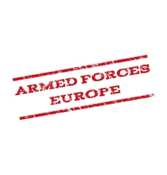 Armed forces europe watermark stamp vector