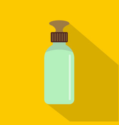 Closed vial icon flat style vector