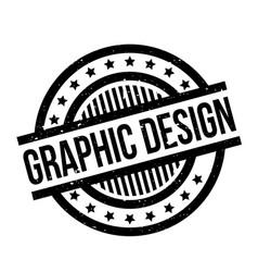 Graphic design rubber stamp vector