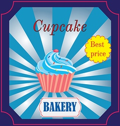 Banner for the bakery cafe with cake vector
