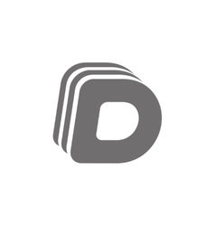 Letter D Logo Concept Icon vector image