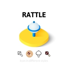 Rattle icon in different style vector