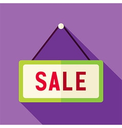 Flat design shopping sale sign icon vector