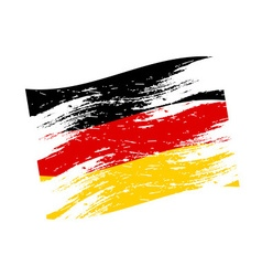 Color germany national flag grunge style eps10 vector