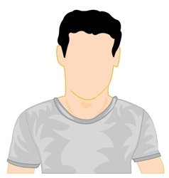 Silhouette of the person in t-shirt vector