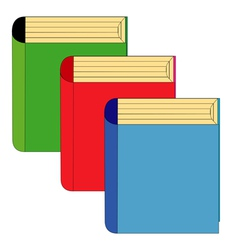 Three books vector image