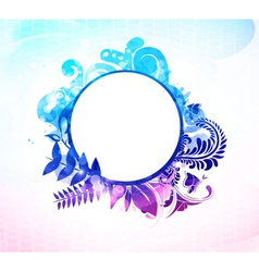 Colorful floral frame vector