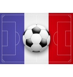France flag and championship of football vector
