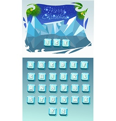 Funny cartoon shine icy vector