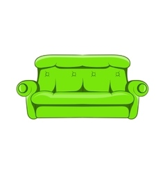 Sofa icon cartoon style vector