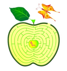 Apple maze vector
