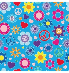 Hippie summer pattern vector