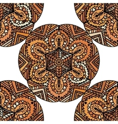 Ethnic decorative handmade brown seamless pattern vector