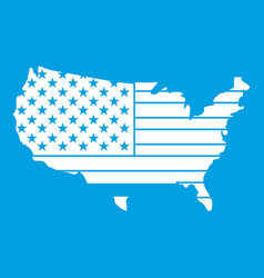 American map icon white vector