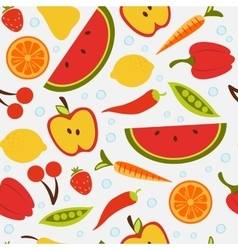 Beautiful seamless pattern with fruit and vector image vector image