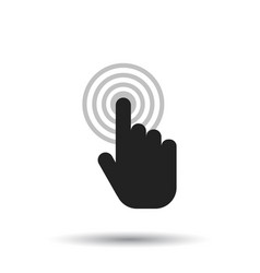 Click here icon hand cursor signs black button vector