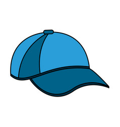 Color image cartoon blue sport cap headwear vector