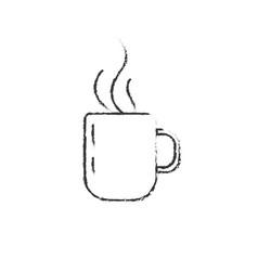 figure delicious coffee cup to drink vector image vector image