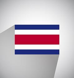 Flat flag of costa rica vector