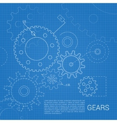 Gears drawing background vector