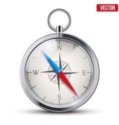 Glossy bright vintage compass vector