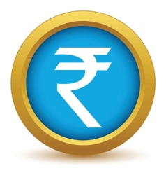 Gold rupee icon vector