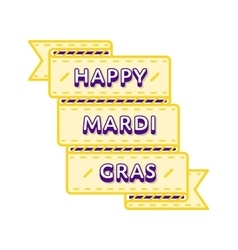 Happy Mardi Gras greeting emblem vector image
